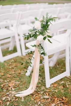 So pretty for a simple outdoor wedding wedding winter Classic Monogrammed Wedding by Kati Mallory - Southern Weddings Wedding Ceremony Ideas, Outdoor Wedding Decorations, Rustic Wedding Centerpieces, Ceremony Decorations, Wedding Ceremonies, Floral Wedding, Wedding Flowers, Aisle Flowers, Garden Wedding Inspiration