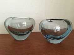 Pair of Menuet heart shaped vases by Per Lutken Per by Qvirky