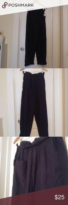 NWOT ZARA Grey Checked jogging trousers Skinny Pants Elastic tab on waistband