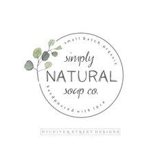 Premade Logo-Logo Branding-Logo Design-Herb Logo-N Photography Packaging, Photography Logo Design, Nature Photography, Photography Business, Best Logo Design, Brand Identity Design, Web Design, Round Logo Design, Graphic Design