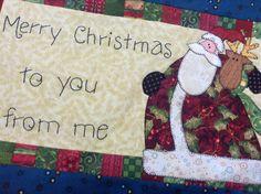 Santa pillow Merry Christmas To You, Santa, Embroidery, Pillows, Needlework, Cushions, Drawn Thread, Pillow Forms, Cushion