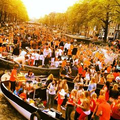 Queen's Day Amsterdam - Still can't believe I was in the middle of this craziness!