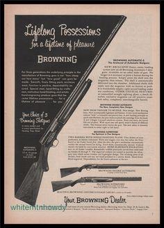 1955 BROWNING Automatic-5 Shotgun PRINT AD : Other Collectibles at GunBroker.com