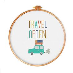 Hey, I found this really awesome Etsy listing at https://www.etsy.com/listing/241051872/travel-often-cross-stitch-pattern-modern