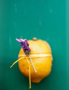 lemon wrapped string with a flower