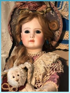 Early Pressed Bisque Doll Steiner Jules Paris Antique ORIGINAL French : Antique Dolls History | Ruby Lane