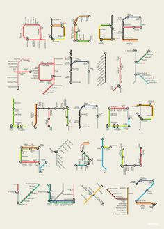 Lovin' the typeface created for the London Transport Museum's exhibit, 'Mind the Map', by Tim Fishlock. And super bummed we ran out of time to check it out in person!