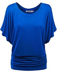 LL Womens Boat Neck Short Sleeve Dolman Drape Top XL COBALT_BLUE- #fashion #Apparel find more at lowpricebooks.co - #fashion