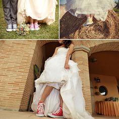 bride in converse