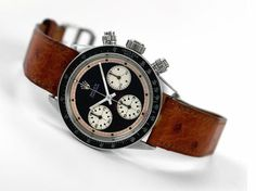 Rolex chrono on leather
