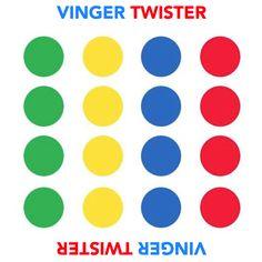 Vinger Twister - speelbord  uitwerking van: http://latergatorcrafts.blogspot.nl/2011/12/finger-twister.html