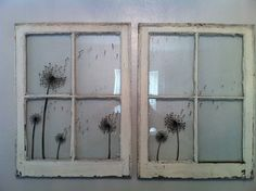 Dandelion Silhouette  Window Paiting by ReframedView on Etsy, $75.00