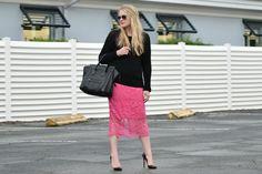 peony pink lace...