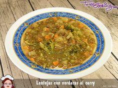 lentejas verduras al curry
