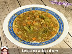 lentejas verduras al curry