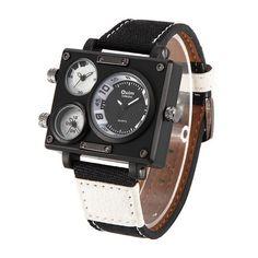 Leo - Triple Time Zone Square Luxury Watch. PhpŠportŠportové HodinkyDoplnky 44f0e8963de