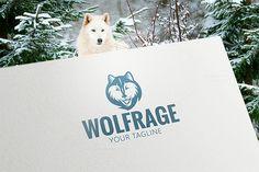 Wolf Animal Logo. By Steinar Logo on @creativemarket
