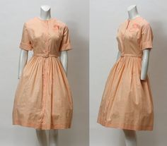 50s Dress // Vintage 1950s Shirt Dress // by hotcouturevintage, $54.00