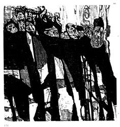 Jacob Landau 1917-2001 woodcut