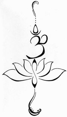 A lotus to represent a new beginning, or a hard time in life that has been overcome and the symbol Hum from the Buddhist mantra to stand for love, kindness and protection.this symbol is also said to purify hatred and anger. tattoos for you. Band Tattoos, Yoga Tattoos, Flower Tattoos, Body Art Tattoos, New Tattoos, Sleeve Tattoos, Tatoos, Arrow Tattoos, Script Tattoos