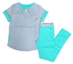 Ambo Uma Aqua y Gris Cute Scrubs Uniform, Scrubs Outfit, Healthcare Uniforms, Medical Uniforms, Beauty Uniforms, Greys Anatomy Scrubs, Scrub Jackets, Medical Scrubs, Work Wardrobe