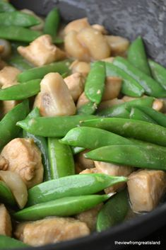 Chicken & Snow Peas by theviewfromgreatisland: Simple and delicious. #Chicken #Snow_Peas #Healthy