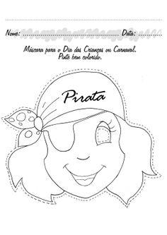 Masker van een Piratenvrouw ;)