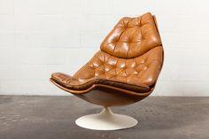 Geoffrey Harcourt For Artifort F584 Swivel Lounge Chair image 2