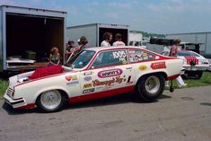 Nearly every generation since the has been able to witness some of the coolest Pro Street cars on the planet. But the genre's roots are questionable. Chevrolet Vega, Vegas, Nhra Drag Racing, Chevy Muscle Cars, Vintage Race Car, Vintage Auto, Old Race Cars, Drag Cars, Car Humor