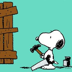 Snoopy - Carpentry - Peanuts Gang