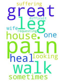 Prayer  Request -  Dear father, My wife suffering from leg pain , She is the one looking after ours house, sometimes very difficult to walk her, I requesting you all pray for her get heal the pain, God Is Great  Posted at: https://prayerrequest.com/t/yBi #pray #prayer #request #prayerrequest