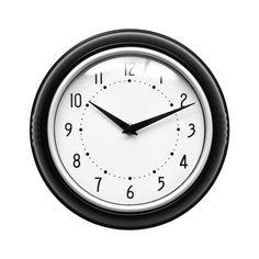 Wall Clock, Black Plastic