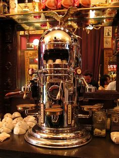 So cool! Rad vintage-looking espresso machine.