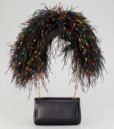 c7de3d808b61 Christian Louboutin Artemis Feathers Bag Guides De Style