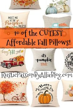 Who else is breaking out the Fall Home Decor? It's that time of year! I love all the pretty Fall Styles that are trending right now. You will love these Fall throw pillows. Fall Home Decor, Autumn Home, Unique Home Decor, Diy Home Decor, Neutral Pillows, Fall Pillows, Throw Pillows, Cheap Pillows, White Pillows