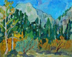 Tuolumne County, Sierra Nevada, Evergreen, Landscape Paintings, Kendall, Etsy Store, Mountains, Canvas, Drawings