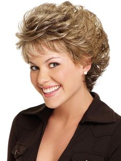 Short cute hair styles for curly hair, women over 40