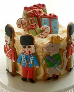 Eleni's nutcracker cookie cake
