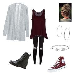 """""""Grey and maroon"""" by hailey-elizabeth-prosser on Polyvore"""