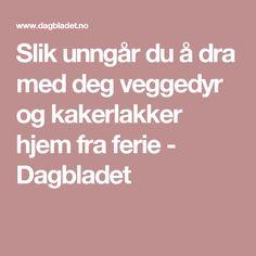 Slik unngår du å dra med deg veggedyr og kakerlakker hjem fra ferie - Dagbladet