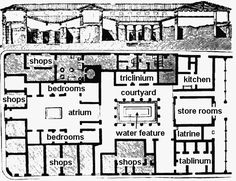Ancient Greek Courtyard House Plan