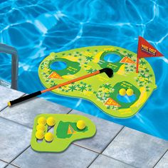 Swimming pool toys and games - pool noodles and popular diving toys and pool games - pool basketball, volleyball, golf, rodeo, polo and pong games for pools.