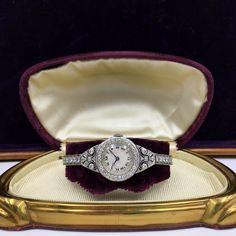 Exquisite Meylan Platinum Diamond Ladies Watch, Circa 1915