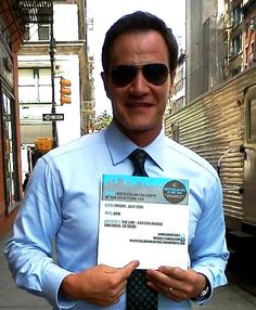 Tim DeKay inviting YOU to the party! Note: This is not photo-shopped.