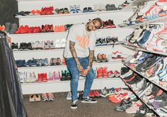 Sneakers News Chris Browns Sneaker Closet Is What All Celebrity Closets Should Be