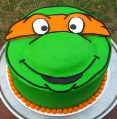 Teenage Mutant Ninja Turtle Cake! TMNT birthday!