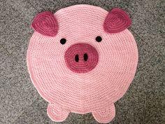 Alfombra de cerdo por PeanutButterDynamite en Etsy