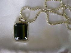 10CT Double Color Tourmaline Genuine 925 Solid Sterling Silver 16 Chain/Pendant #Pendant