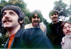 1967 - The Beatles. (Appears to be a selfie by Paul)