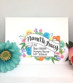 Mail Art with Catherine Pooler - by Nanette Tracy Hand Lettering Envelopes, Mail Art Envelopes, Addressing Envelopes, Handwritten Letters, Envelope Art, Envelope Design, Snail Mail Pen Pals, Pen Pal Letters, Fun Mail